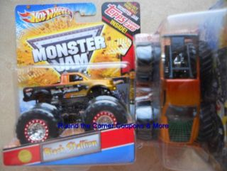 Wheels Black Stallion Spectraflames Paint Monster Jam Truck 1 64