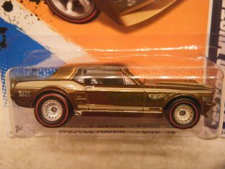 SUPER TREASURE HUNT 67 FORD MUSTANG COUPE GOLD RIM VARIATION VHTF