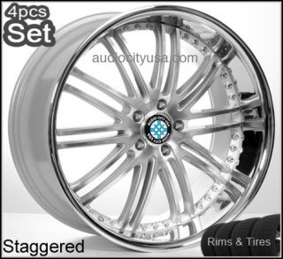 22 for BMW Wheels and Tires Pkg Staggered 6 7SERIES x5 M6 Rims 645