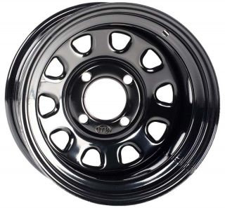 ITP Steel Golf Cart 4 Wheels Rim Black 12x7 5 4 5 2 5 D12FB545 EZ Go