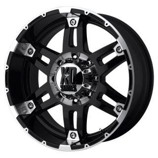 XD Series Spy XD797 5 6 8 Lug Black Wheels Rims FREE Caps Lugs Stems