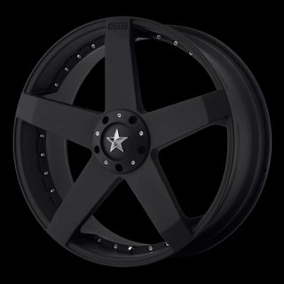 KMC Rockstar Car Black 5x115 5x120 w 15 Et KM77577520715 Wheels