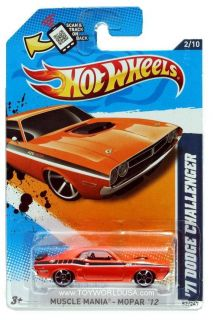 2012 Hot Wheels Muscle Mania Mopar 82 1971 Dodge Challenger Orange