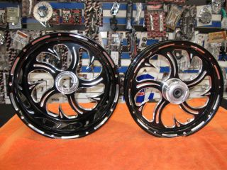 HAYABUSA gen 2 BLACK CONTRAST CUT 300MM FAT TIRE SHARK TOOTH WHEELS