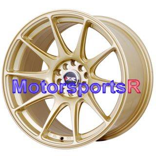 Gold Staggered Rims Wheels Concave 5x4 5 98 99 04 Ford Mustang GT V6