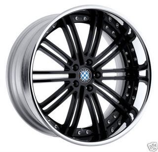 22 Beyern Black 3 Piece Wheels Rims BMW All Fitments