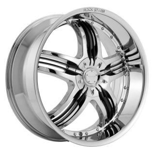 24 inch Rims and Tires Wheels Rockstarr 410 Chrome Crown Victoria