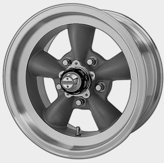 AMERICAN RACING TORQ THRUST D GRAY WHEELS 15X7 & 15X8 5 LUG FORD CHEVY