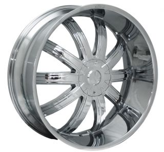 20 Chrome Wheels Rims Tires Package Effen 415 FWD 5x112