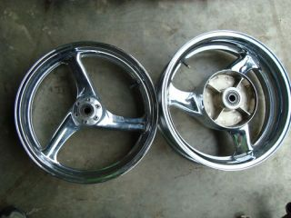 1998 98 Honda Blackbird CBR1100XX Chrome Wheels Rims