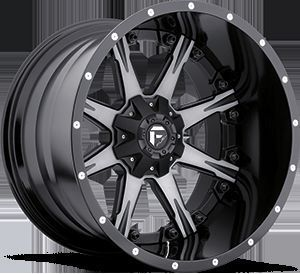Offroad 2 PC Nutz D252 Black Machined Truck Wheels Falken Tires