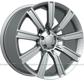 22 22X10 LAND ROVER STYLE WHEELS 5X120 RIMS FITS RANGE ROVER SPORT HSE