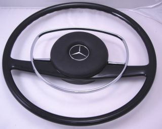 RESTORED RECASTED MERCEDES BENZ STEERING WHEEL BLACK W108 W109 W111