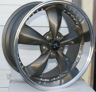 Bullitt Motorsport style wheels 20x10 two rims new Bronze deep dish