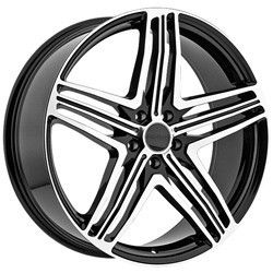 22 inch Menzari Z12 Black Wheels Rims 5x115 35 Buick Regal Riviera