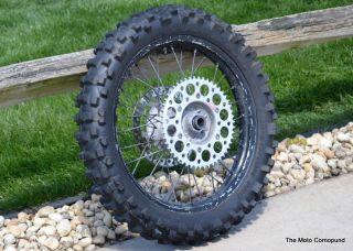 Honda CR125 Back Rear Wheel Excel Black Rims Hub Axle Spaces Spokes
