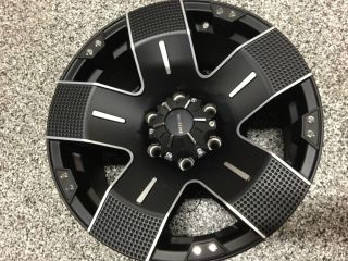 18 Inch Ballistic Hyjak Rims Matte Black Machined Chevrolet Silverado