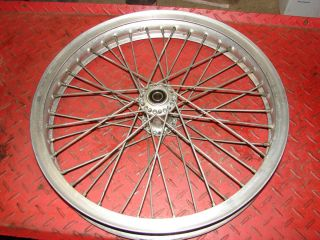 FLAT TRACK BARNES FRONT ALLOY WHEEL RIM HUB WM3 19 40 SPOKED TRUED