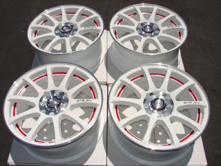 White Neon Effect Wheels Civic Integra Miata Accord 4 Lug Rims