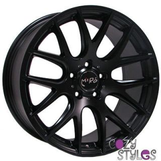 111 RIMS MATTE BLACK STAGGERED 18x8.5 18x9.5 +20 5x120 (4 NEW WHEELS