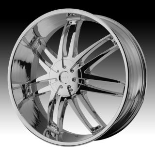24 inch Helo Chrome Wheels Rims 6x135 Ford F 150 Expedition Navigator