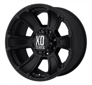 18 inch KMC XD Revolver Black Wheels Rims 6x5 5 6x139 7