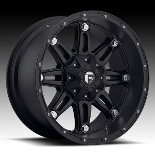 20 inch 20x12 Fuel Off Road Hostage Black Wheel Rim 5x5 5x127 Lifted