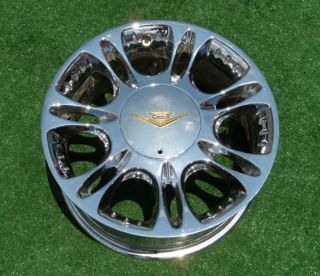 Genuine Vogue Rio 17 inch Chrome Gold Wheels Cadillac