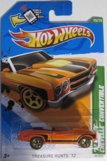 2012 Hot Wheels Treasure Hunt 70 Chevy Chevelle Convertible