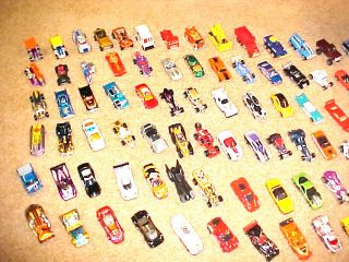 Mint Lot of 146 Hot Wheels with 2 Carrying Cases