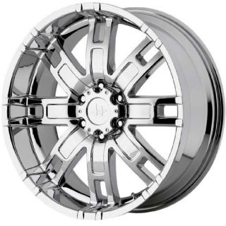 22 inch Helo HE835 Chrome Wheels Ford F250 F350 8x170