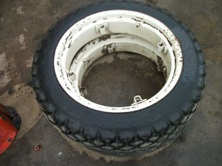 1967 International Cub Loboy Tractor Rear Turf Tires Rims