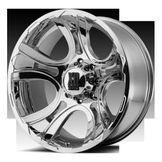 Series XD801 Crank Chrome 20x9 0 Truck Offroad Rims Wheels Set
