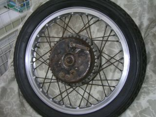 Dunlop WM2 2 1 2 19 40 Spoke Alloy Rim Norton Full Width Rear Hub