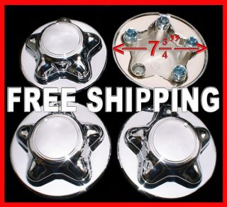 Ford F150 16 Chrome Wheel Center Hub Caps Nut Cover for 5 Slot