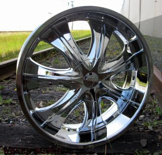 24 VW750S Wheel Tire Package 300C Magnum Charger Explorer Challenger
