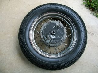 Custom Conical Rear Wheel 16 Rim Triumph BSA Chopper