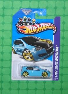 2013 Hot Wheels Showroom HW All Stars 177 Volkswagen Golf GTI Blue