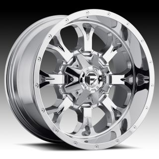 20x10 Krank XD 20 inch Chevy Ford Dodge Chrome Wheels Rims Set