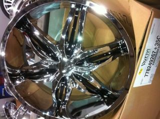 24 INCH CHROME & BLACK WHEELS & TIRES ESCALADE ,TAHOE LTZ,FORD F150