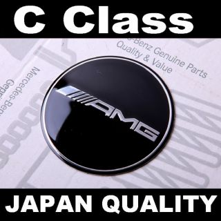 Black AMG Mercedes Benz C Class Steering Wheel Emblem Horn Badge W202