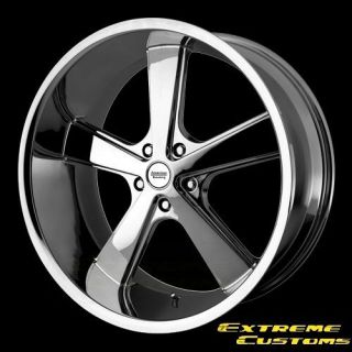 x9 American Racing VN701 Nova Chrome 5 Lug One Single Wheel Rim