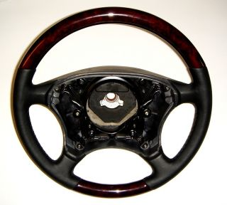 Mercedes S500 W220 W215 CL600 Burl Wood Leather Steering Wheel