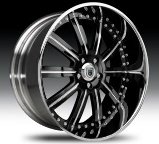 20 asanti AF134 Black Chrome Wheels Rims 2 Piece Tone