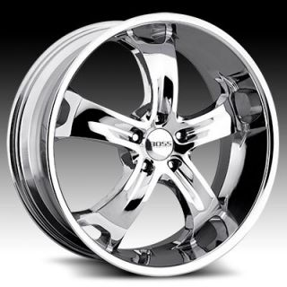 22 x9 Boss 329 3296 Chrome Wheels Rims 5 Lug
