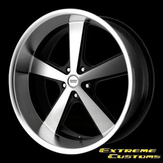 Racing VN701 Nova Black Machined 5 Lug One Single Wheel Rim