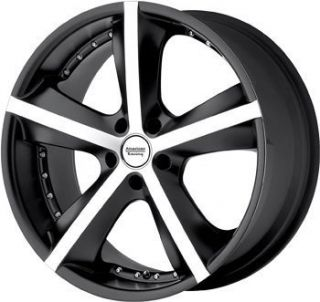 20 Black American Racing Phantom Wheel Rim 5x4 75 S10 Camaro Monte
