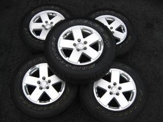 Wrangler Sahara x 5 Spoke Factory Wheels Rims P255 70R18 Tires