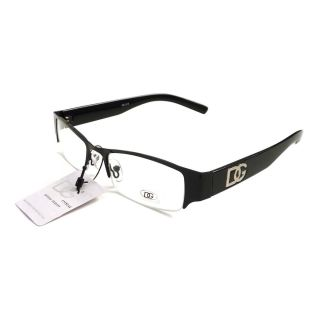 Eyewear Black Metal Frame Half Rim Clear Lens Eye Glasses New