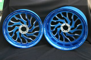 GSXR Hayabusa 360 Fat Tire Wheels Candy Blue